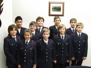Die neuen Mitglieder der Jugendfeuerwehr.