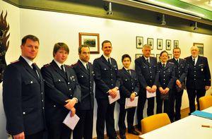 Anwärter, geehrte und gewählte Kameraden der FF Bargteheide