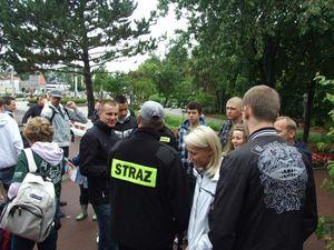 Nach einem langen Tag im Hansaland kommen alle Teilnehmer zum Sammelpunkt.
