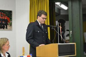 Hendrik bei seiner letzten Rede als Jugendgruppenleiter