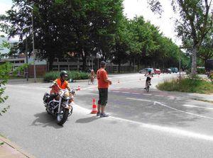 Vom Sportstadion kommend geht es für die Radler in Richtung Timmerhorn.