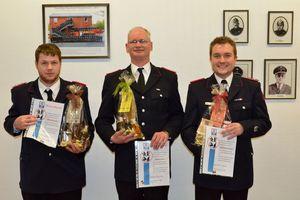 20 Jahre Mitgliedschaft in der Freiwilligen Feuerwehr - Michael Mayer, Björn Schreiber, Dominik Littkowski