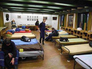 Der Raum für die Nachtruhe, in der Nacht schwieg er Alarmgong.