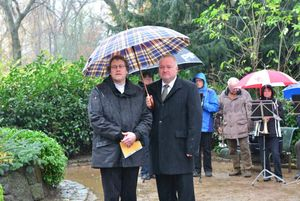 Pastor Weber und Bürgermeister Dr. Görtz