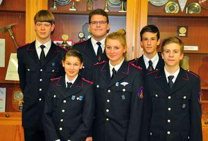 Der Jugendausschuss 2015; Christopher, Leonie, Hendrik, Svenja, Kaspar und Rasmus