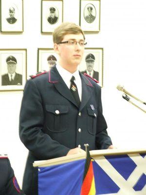 Der neue Jugendgruppenleiter Fabian Ahlers führte durch die Jahreshauptversammlung.