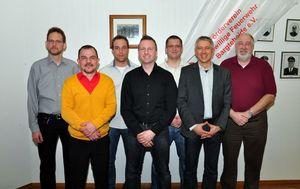 Der Vorstand des Fördervereins: Manfred Köncke; Alexander Linsenbarth; Stephan Breuer; Kai Mittelbach; Thorge Lorenzen; Ulrich Korn; Wolfgang Schramm (Bilder von links nach rechts) nicht auf dem Bild: Heiko Bordewieck