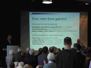 Auch Angehörige der Freiwilligen Feuerwehr Bargteheide gehörten zu den Geehrten der Stadt Bargteheide.
