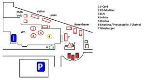 Hilfszentrum Bargteheide, Alter Sportplatz 8 als Messegelände