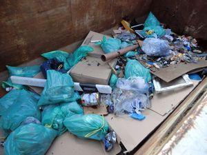 Der gesammelte Müll von nur 3 Sammelgruppen (von ungefähr 12)- viel zu viel Dreck aus der Natur!